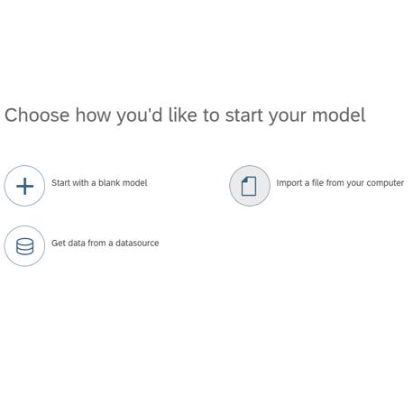 SAC Model - Optionen zur Erstellung von Model